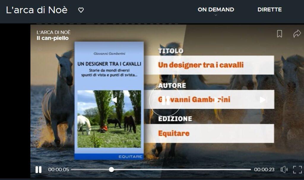 """Guarda il podcast dell'Arca di Noé con """"Un designer tra i cavalli"""""""